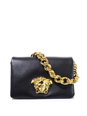 Medusa leather shoulder bag