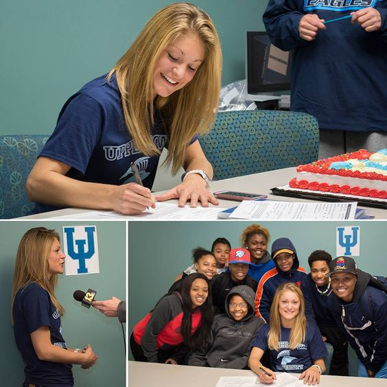 #RockValleyCollege's Aleesha Cleaver signed a National Letter of Intent (5/1/14) to continue her academic pursuits and basketball career at Upper Iowa University, an NCAA Division II university located in Fayette, Iowa.