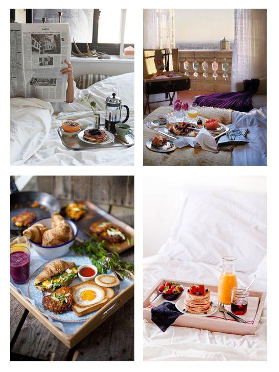 Planes románticos y baratos: desayuno en la cama