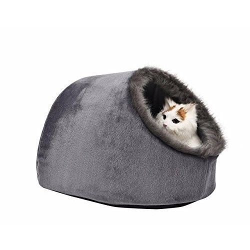 Cat Small Den House Bed Cave Pet Home Hideaway Soft Igloo Cushion Warm Puppy Dog With Images Pet Beds Cat Cat Bed Dog Cushions