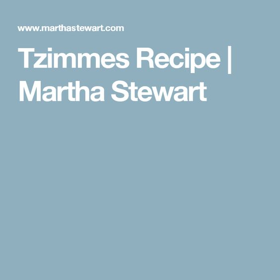 Easy recipes for tzimmes