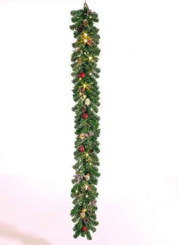 Christmas Dream Girlande 180 cm lang grün/rot