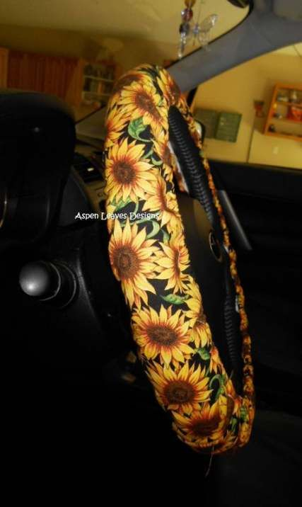 TINFO Sunflower Steering Wheel Cover Car Accessories