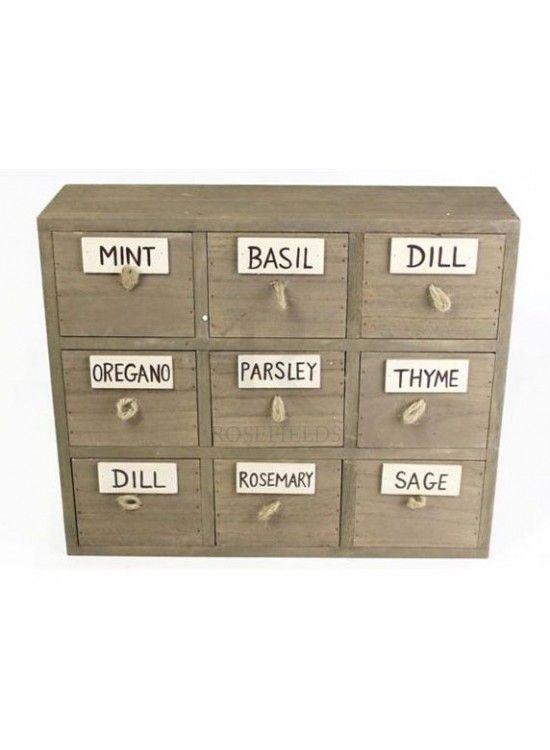 Wooden Herb Box @ rosefields.co.uk