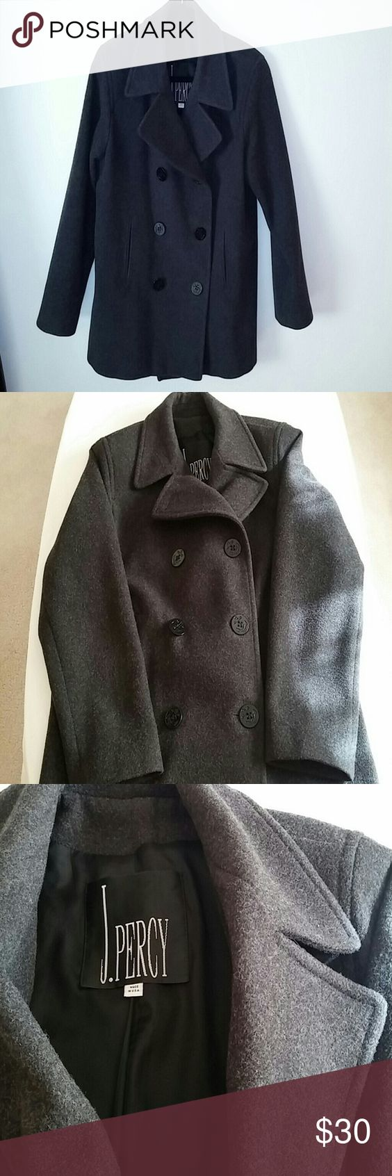 Vintage Women's Double Breasted Wool Pea Coat J Percy 100% wool ...