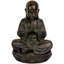 Sitting Japanese Zen Monk Figurine