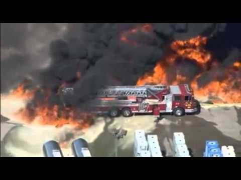 Massive Explosion and Chemical Fire at Waxahachie, Texas Plant on Octobe...