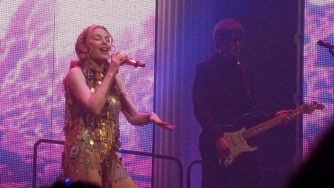 """Kylie Minogue """"Aphrodite"""" tour, NYC."""
