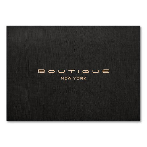 Modern Designer Faux Black Linen Professional Professional Business Cards Templates Professional Business Cards Business Cards Creative Templates