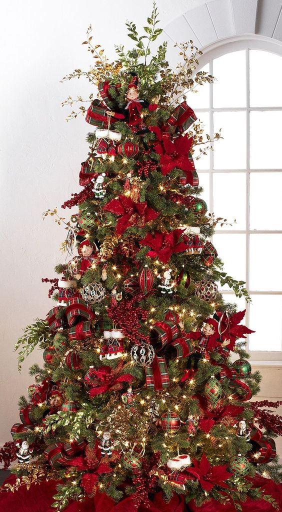 Beautiful Christmas Decorated Living Rooms: 60 Gorgeously Decorated Christmas Trees From RAZ Imports