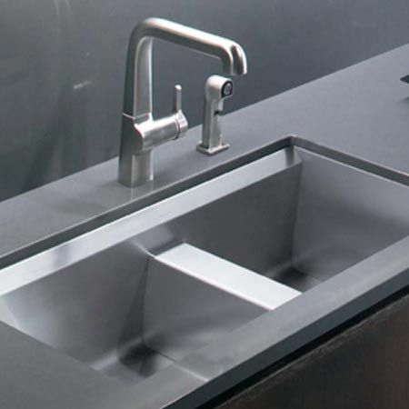 Kohler Undermount Kitchen Sinks Kohler 8 Degree 800mm 1 75 Bowl Undermount  Stainless Steel Sink.