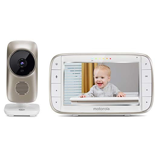 Motorola Mbp845connect 5 Video Baby Monitor With Wi Fi Viewing Digital Zoom Two Way Audio And Room Temperature Display Review Video Monitor Baby Wifi Baby Monitor Baby Monitor