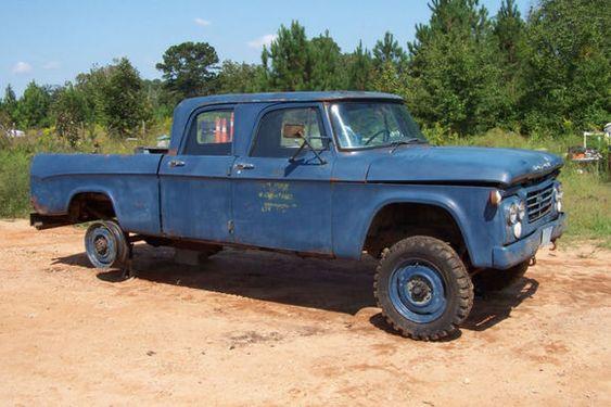 1964 Dodge W200 Power Wagon 4x4 Crew Cab Military Pickup 4 ...