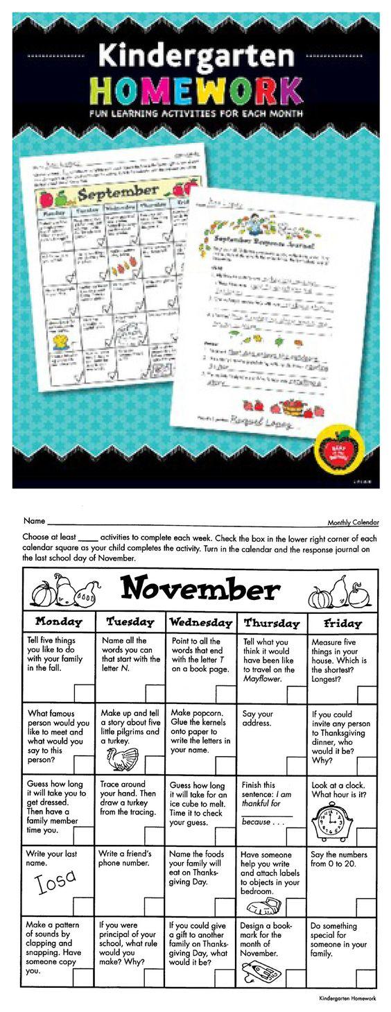 Die 12 besten Bilder zu Preschool Homework auf Pinterest ...