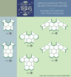 Templates for clothes and bags made out of triangles, squares, hexagons …
