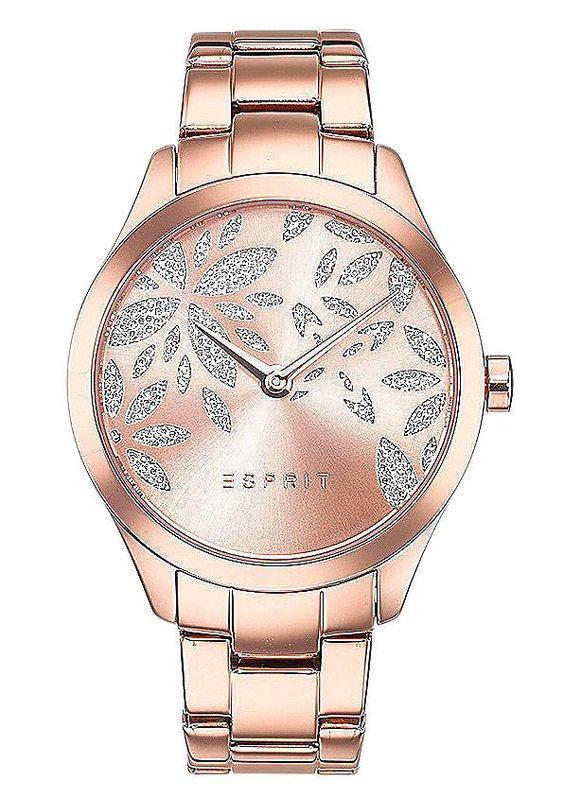 """Esprit, Armbanduhr, """"ES-lily dazzle rose gold, ES107282002"""".  Lieferung erfolgt in einer ESPRIT-Geschenkbox.Quartzwerk, Mineralglas, Spritzwassergeschützt, Kristallsteinen, Edelstahlgehäuse und -band, ionenplattiert, Gehäuse-Ø ca. 38 mm,  ..."""