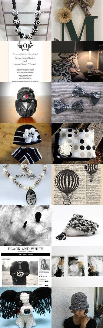 The Black and Whie of It~TeamUNITY~Group 6 by Kathy Carroll on Etsy--Pinned with TreasuryPin.com