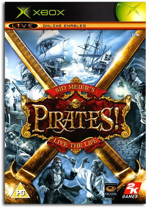 Sid Meier's Pirates! Poster Xbox Game Cover Artwork