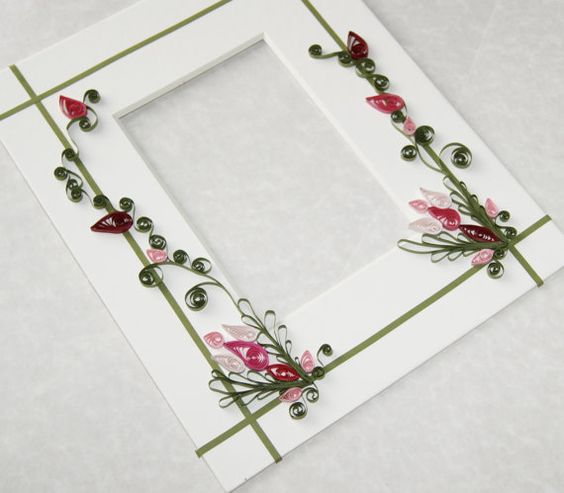 Hand Quilled Picture Frame Mat by Cornbreadbottomstore on Etsy ...