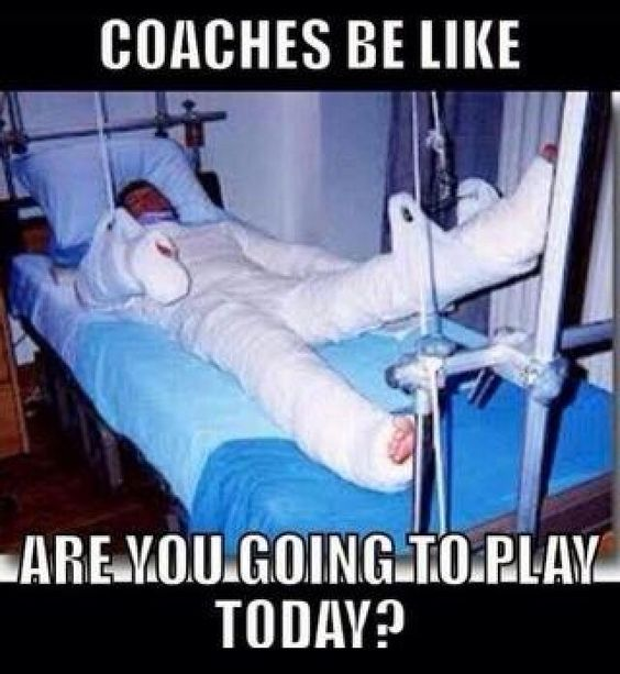 Well.. Are you? #play #playtoday #youplaying #hurt #injured #injury #play…