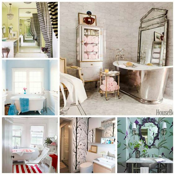 Love these bathrooms....