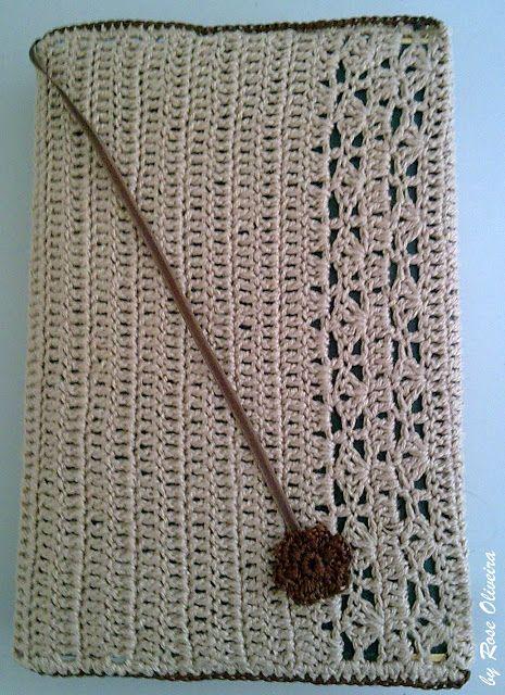 Tecendo Artes em Crochet: Capa para Agenda em crochê (crochet)