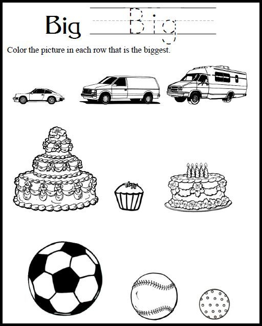 Worksheets Big And Little Worksheets 1000 images about big and small on pinterest sorting learning little large worksheets download the christian homeschool hub