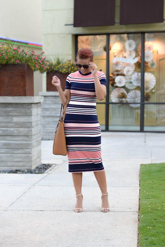 8ca7b4d124  FashionablyLo wears the Candy Stripe Tube Midi Dress -