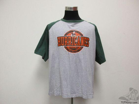 NCAA Miami Hurricanes Short Sleeve Crewneck t Shirt sz 2XL XXL University The U #NCAA #MiamiHurricanes