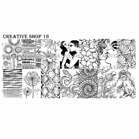 Creative Shop- Stamping Plate- 16