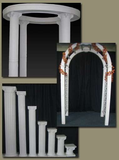wedding arches with columns wedding arches and columns