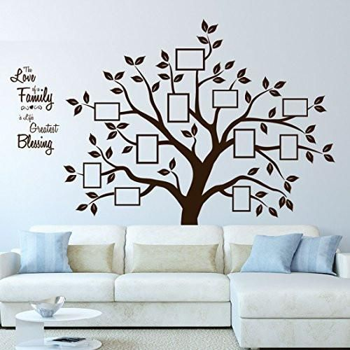 Timber Artbox Beautiful Family Tree Wall Decal With Quote The