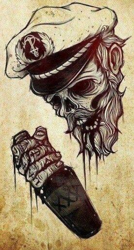 Skull // Navy Boy hehehe