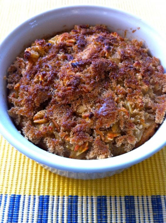 Might be nice for when we have company over or for when we have Sunday school breakfast. Overnight crunchy-top apple cinnamon baked oatmeal