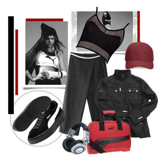 """* New Puma Creepers - by Rihanna *"" by sassy-elisa ❤ liked on Polyvore featuring Chicnova Fashion, Puma, Boohoo, Barbour International, Panasonic and Whistles"