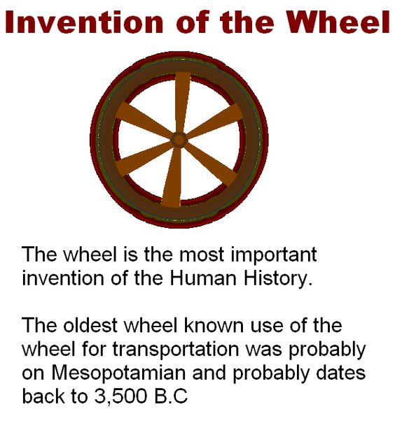 the invention of the wheel essay writer