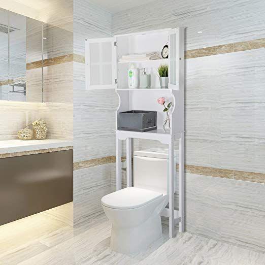 Amazon Com Peachtree Press Inc Home Bathroom Shelf Over The Toilet Space Saver Cabinet Bat Bathroom Organisation Bathroom Space Saver Wooden Bathroom Storage