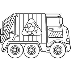 Top 10 free printable dump truck coloring pages online - Pagina da colorare camion della spazzatura ...