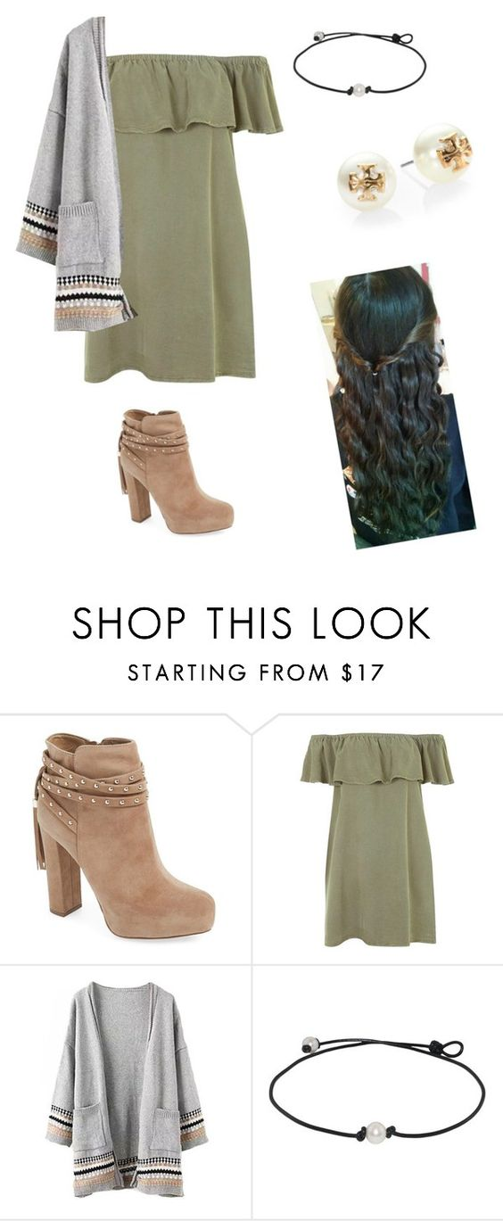 """""""fall casual"""" by ponyboysgirlfriend ❤ liked on Polyvore featuring Jessica Simpson, Topshop and Tory Burch"""