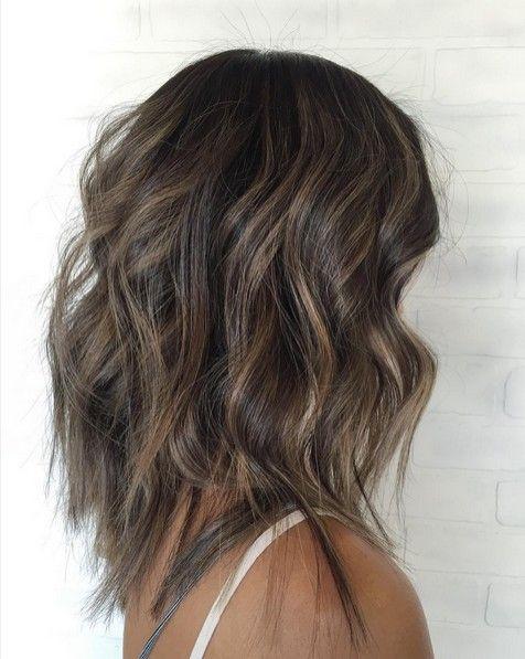 Medium Length Hairstyles for Thin Hair - Balayage Hair Styles