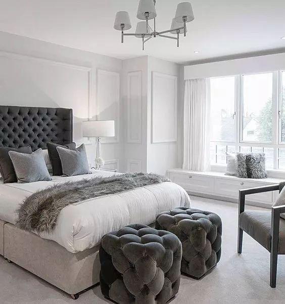 Pinterest C0harris Boutiquebedroomdesigns Grey Bedroom Decor Gray Master Interior