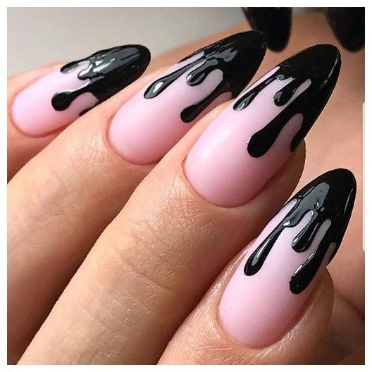 Black White Acrylic Coffin Nail Ideas Are Timeless Classics 00091