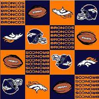 Team Shop - NFL Denver Broncos Orange Fleece Fabric