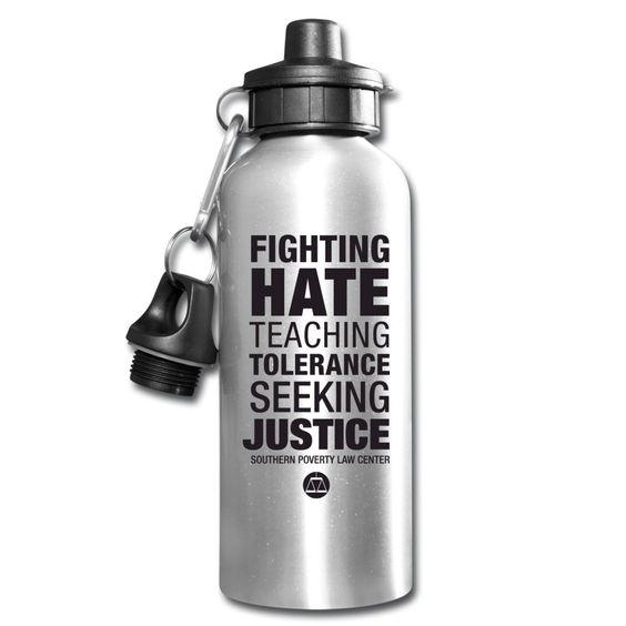 SPLC Tagline Waterbottle Bottle - Southern Poverty Law Center