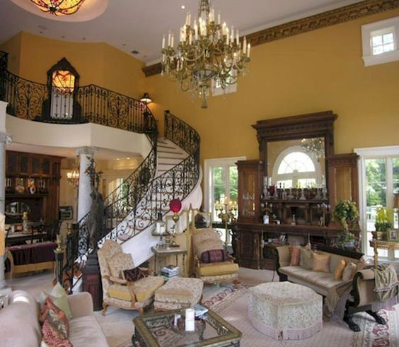 Country style living room in italian decoration 24 living for Tuscan themed living room ideas