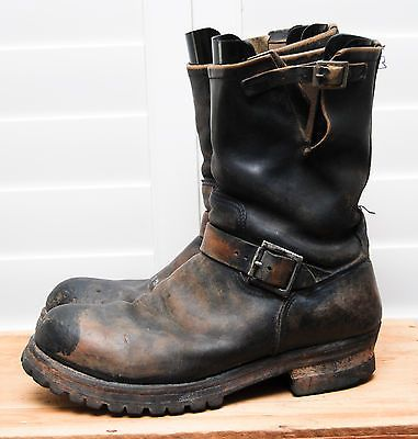 VTG RED WING 02421 Engineer Motorcycle Biker Boots Black Men&39s 11