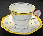 Melba Flower-Handle  Tea cup and saucer Teacup  A/F