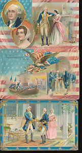 Lot of 3 TUCK Patriotic GEORGE WASHINGTON'S BIRTHDAY POSTCARDS-hhh949