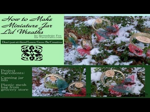 How to Make Miniature Wreaths from Canning Jar Lids.