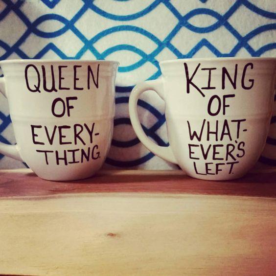 Mug set/Mug/Cup/Anniversary/Wedding gift/Couples gift/Birthday present/Set of 2/Hand painted/Coffee mugs/Quote mugs/Funny mugs/Bridal shower
